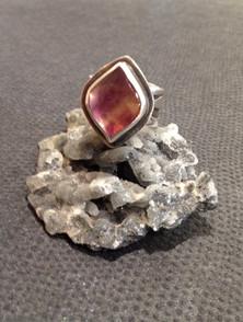 Bi-colour Tourmaline ring. SOLD