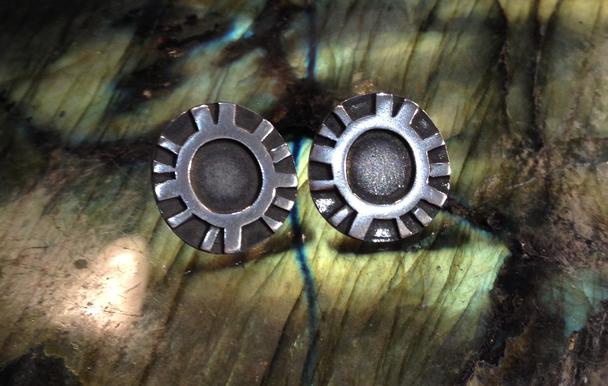 Mushroom gill earrings.  SOLD