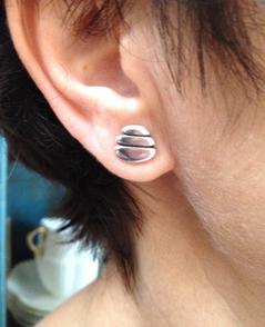 Wearing my beetle butt earrings.  £39