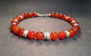 Carnelian and Sterling silver beads.  £280