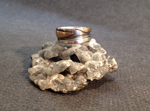 Silver and gold layered ring.  £250