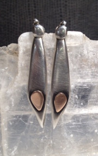 Slender wing earrings.  SOLD