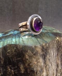 Oval Amethyst ring.  £220