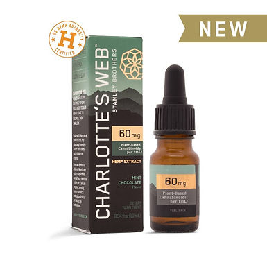CW CBD Oil-60mg-Mint Chocolate-Starter Size