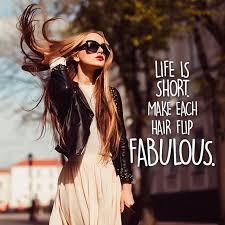 Fabulous hair flips