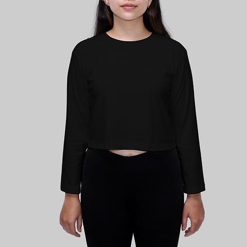 Kuta Crop Long Sleeves Organic Cotton T-shirt