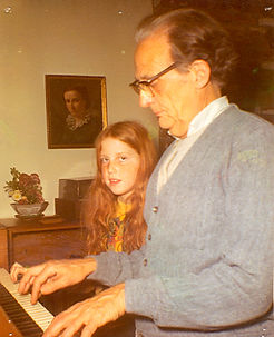 Jennifer Bloomer life long composer and Singer/Songwriter with her composer Grandfather.