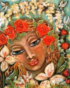 """The spirit of the roses, one of the many nature spirits in """"The Flower Story"""", a musical with wisdom for modern times, from the heart of nature."""