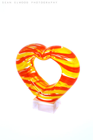 Red and Yellow Glass Heart