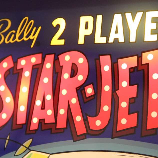 Star-Jet by Bally (1963) detail of backglass