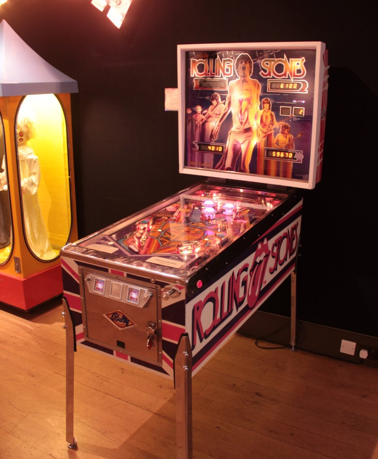 Bally Rolling Stones pinball mahine from 1980 also sold at Christie's Out of the Ordinary sale in South Kensington London in September 2015