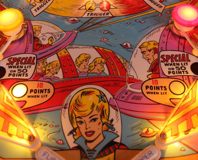 Bally Star-Jet 1963 repainted and clear coated playfield