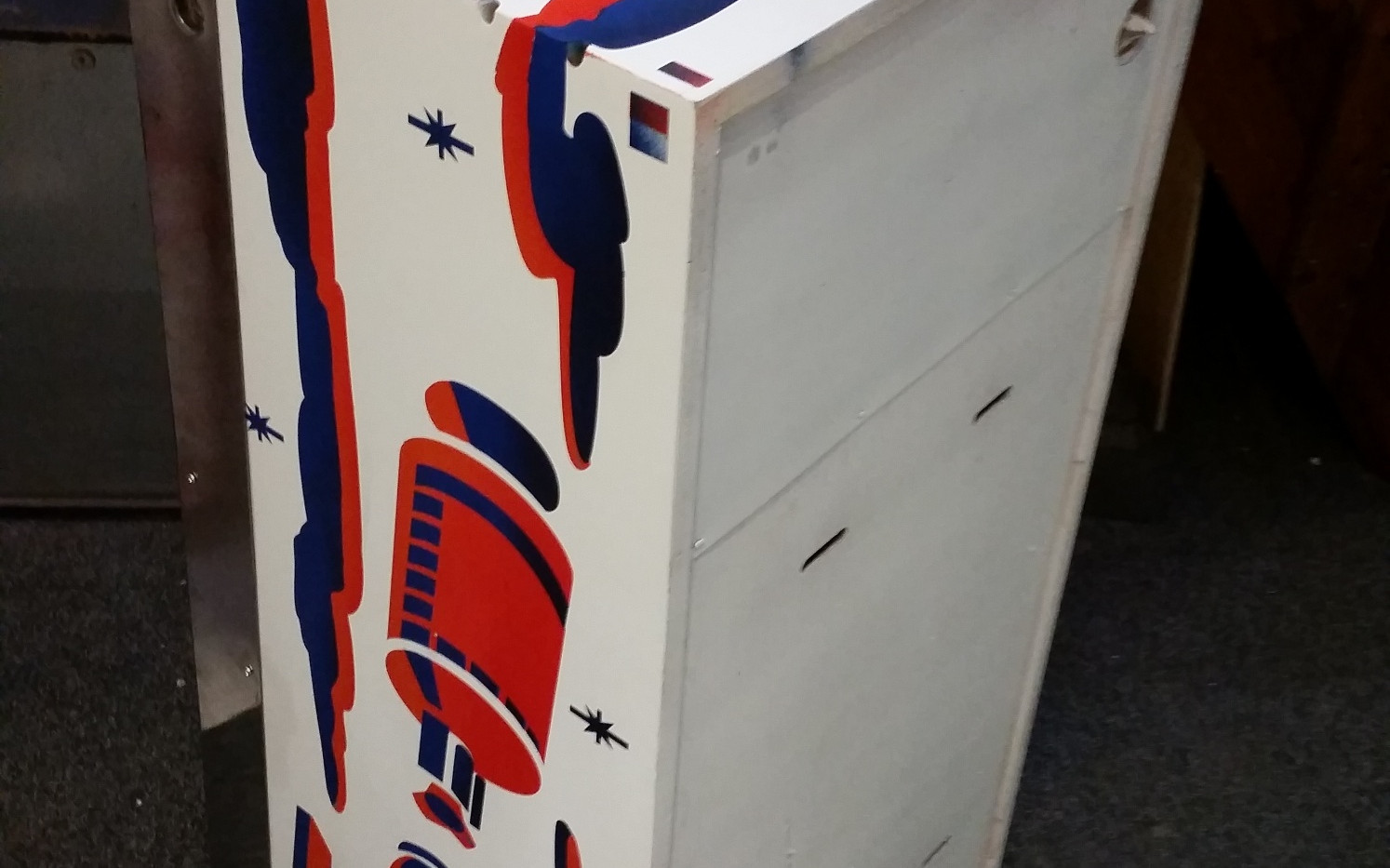 Space Mission 1976 cabinet respray by Pinball Creative