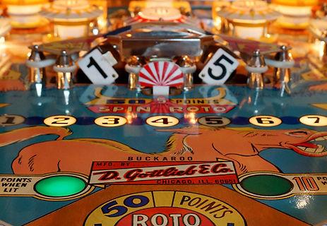 Gottlieb 1965 Buckaroo pinball machine roto target playfield