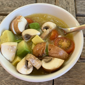 Chilled avocado citrus soup