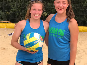 Lotti Ertner und Ajla Huskovic gewinnen Westdeutsche Beachmeisterschaft der U 17