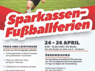 SV Burlo Fußballcamp vom 24.04.19 bis 26.04.19! Nicht verpassen!!