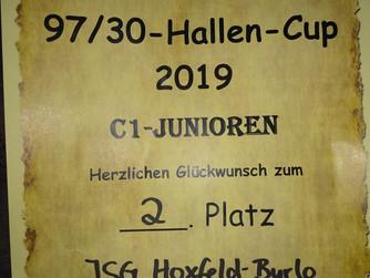 Toller 2. Platz für C1-Jugend der JSG Borken-Hoxfeld-Burlo beim Hallenturnier in Lowick