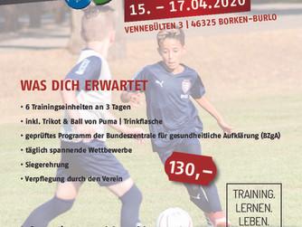 Fussballschule 2020 in Burlo geht neue Wege.....nicht verpassen!!! 15.04. – 17.04.2020.....seid dabe