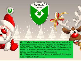 WEIHNACHTSFEIER der SV Burlo Jugend