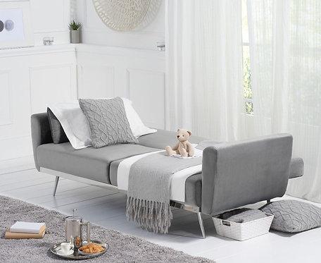 Elisa Grey Velvet Sofa Bed