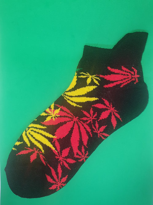 Red and Yellow Ankle Socks