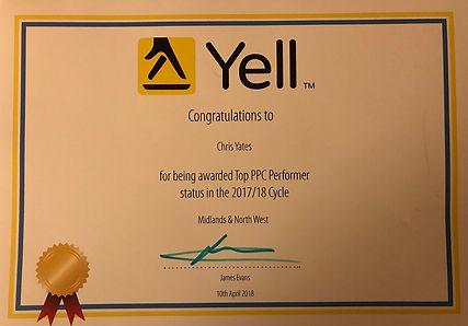Top PPC Performer Certificate