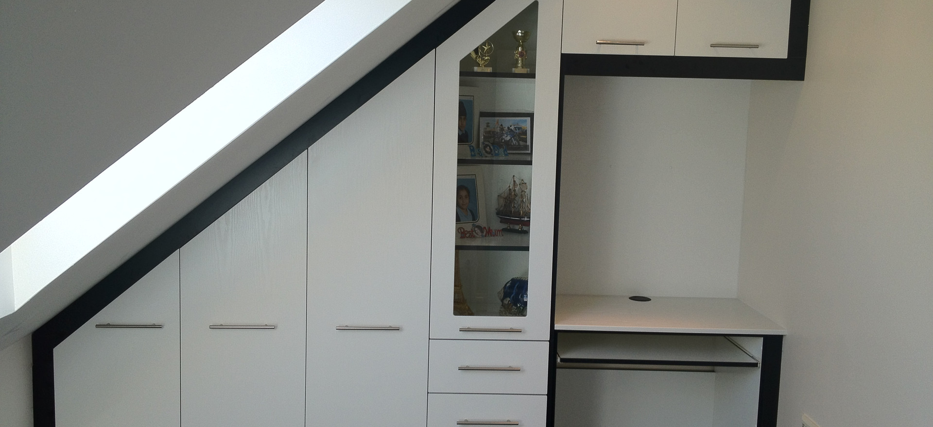 Angled Wardrobes and Table