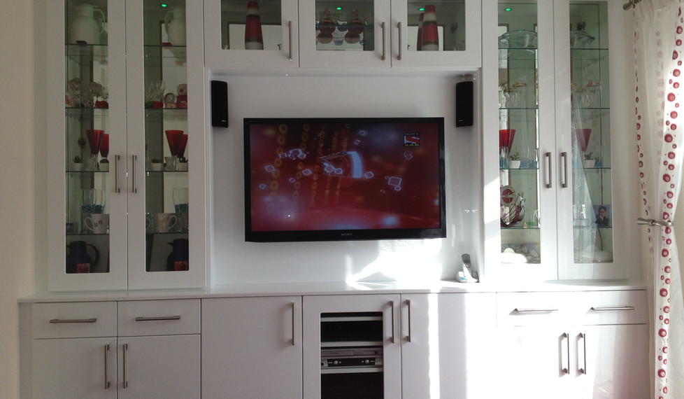 Fitted Lounge Cabinets and Storage