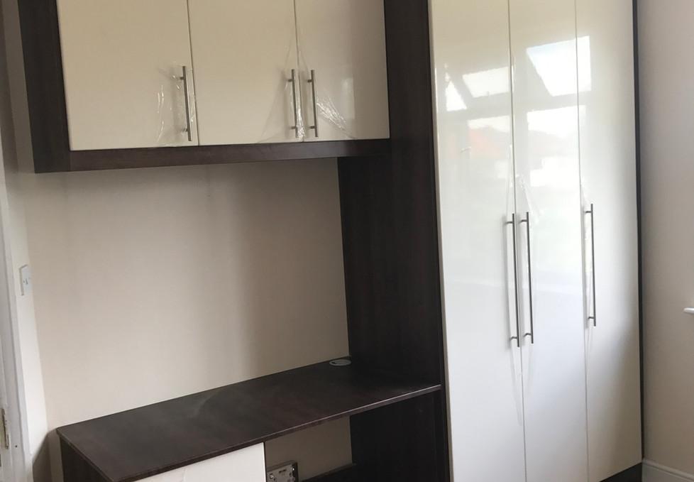 Small Wardrobe and Table Set