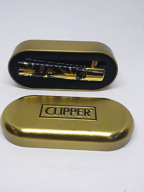 Gold Metallic Lighter with Case