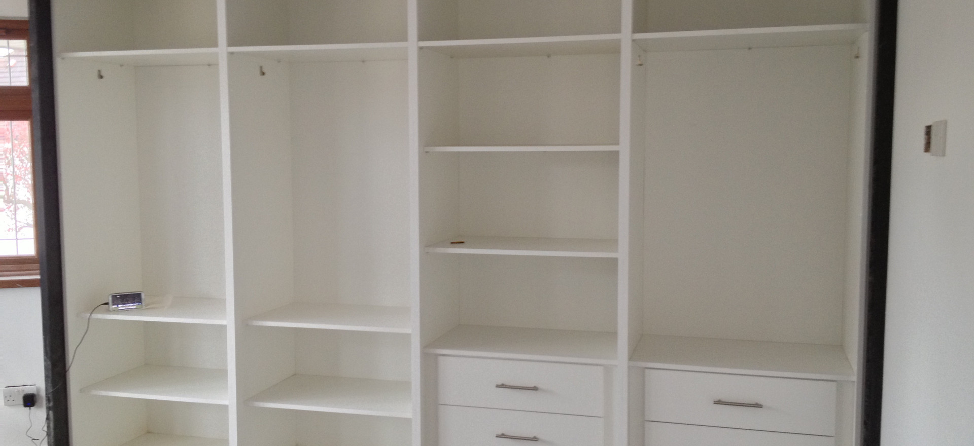 Large Double Fitted Hinged Door Wardrobe