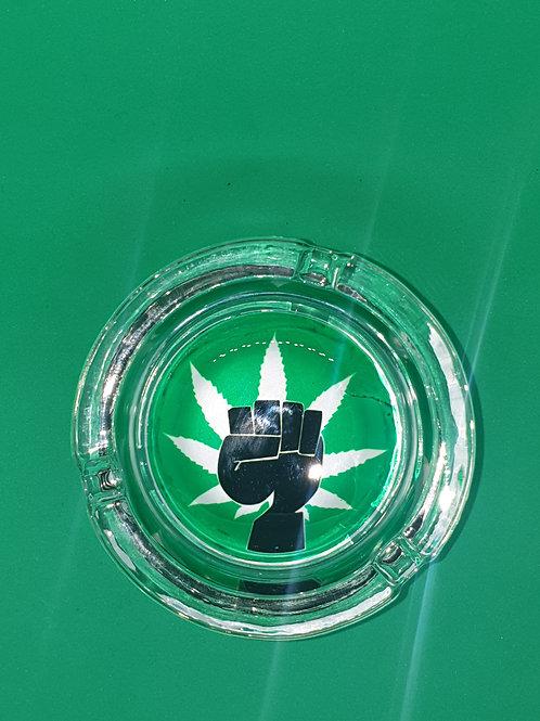 Fist Glass Ashtray
