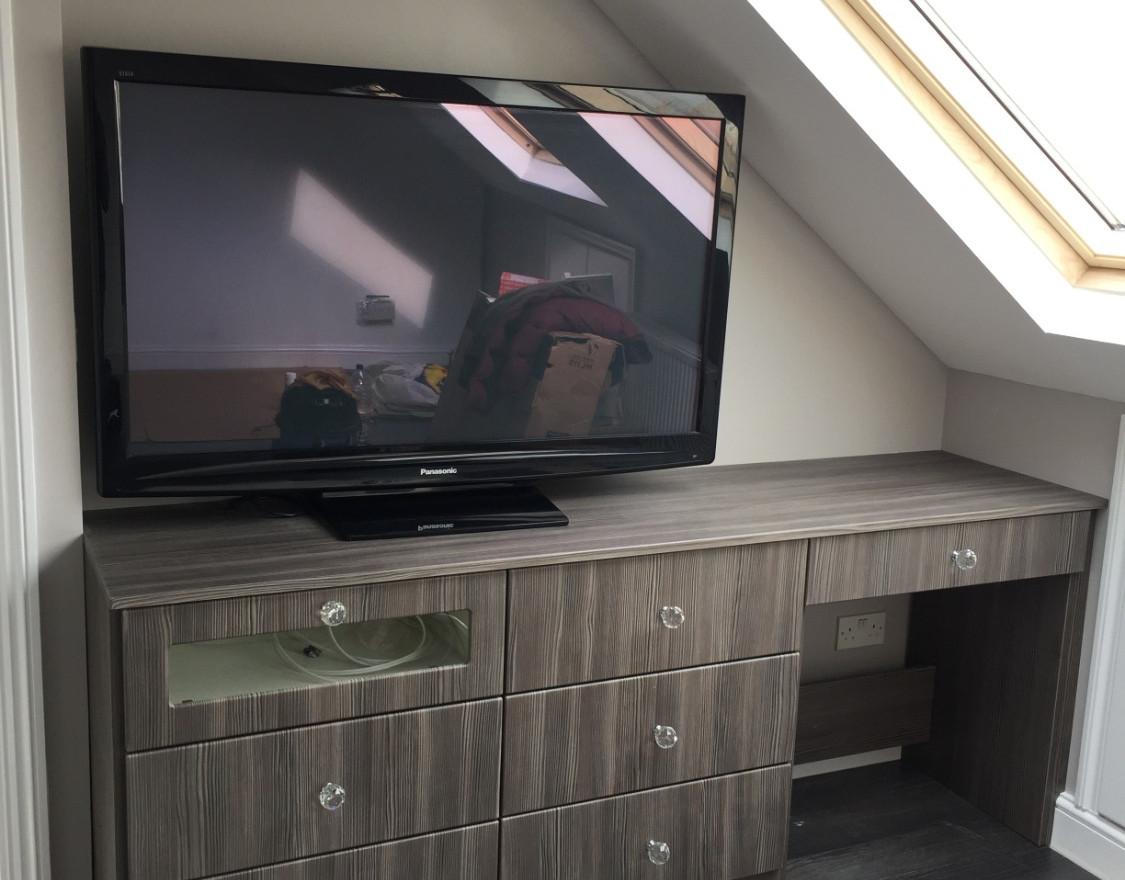 Angled TV Table