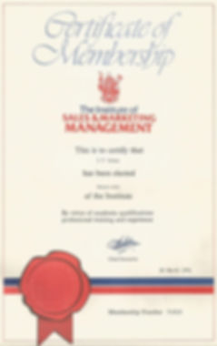 Certificae of Sales & Marketing Management
