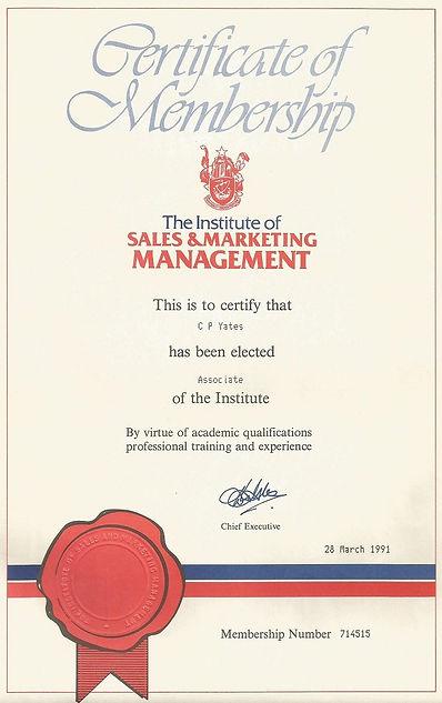 Certificae of Sales & Marketing Management