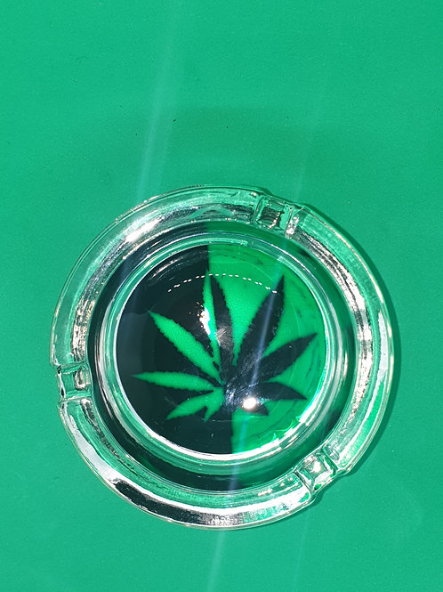 Black & Green Leaf Ashtray