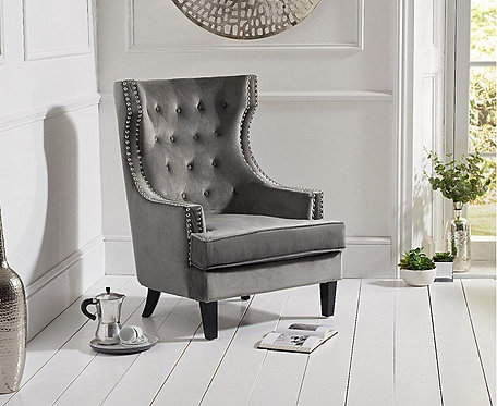 Porsche Velvet Accent Chair