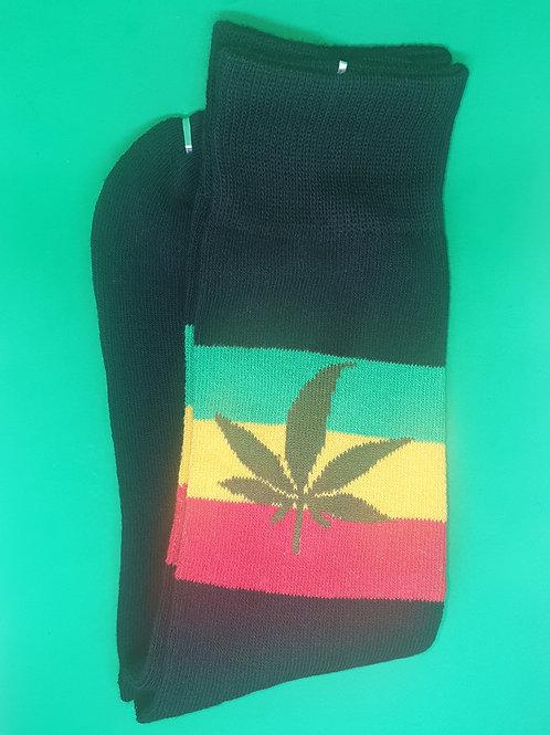 Leaf Knee Socks