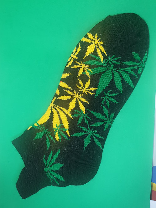 Green and Yellow Ankle Socks