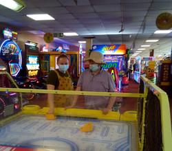 Fun in the arcade
