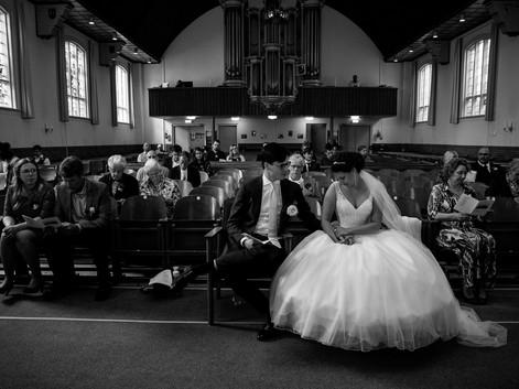 Foto's in de kerk