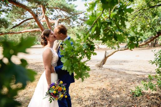 Bruidspaar vrachelse heide