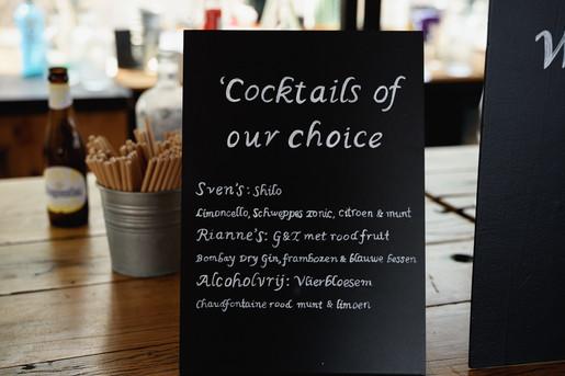 cocktails bij het houtse meer trouwlocatie