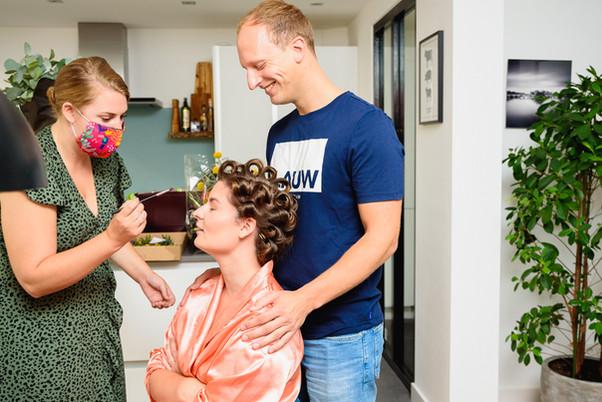 Getting ready samen met echtgenoot