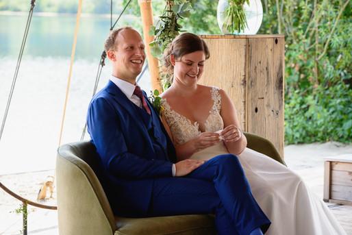 Bruiloft bij het houtse meer