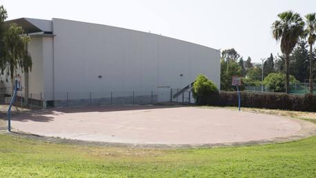 מגרש כדורסל בבריכה