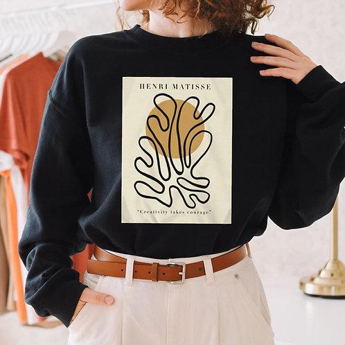 "Henri Matisse ""Creativity takes courage"" Paper Cutouts Sweatshirt"