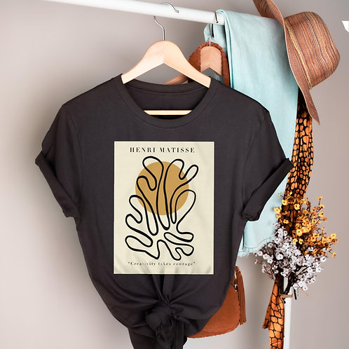 "Henri Matisse ""Creativity takes courage"" Paper Cutouts Tee"