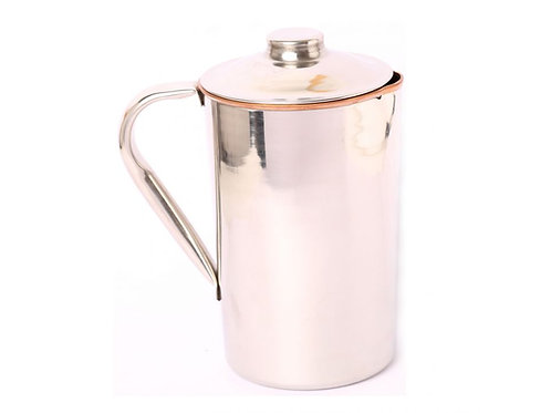 Copper Water Jug Stainless Steel Finish